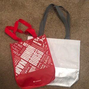 Reusable Lululemon and Athleta bags